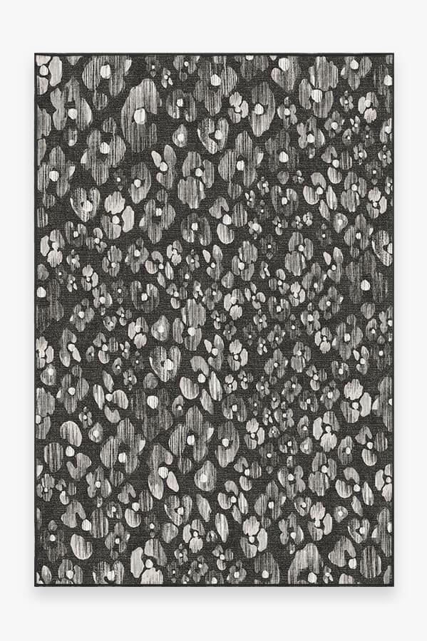 Washable Rug Cover & Pad   Ayana Charcoal Rug   Stain-Resistant   Ruggable   6'x9'
