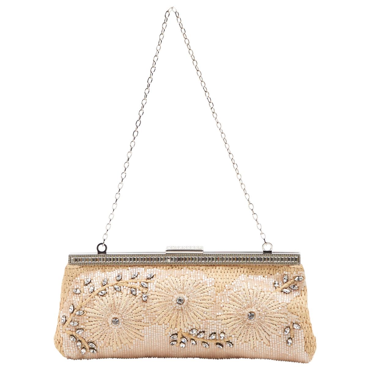 Valentino Garavani \N Beige Glitter Clutch bag for Women \N