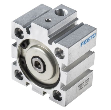 Festo Pneumatic Cylinder 40mm Bore, 10mm Stroke, AEVC Series, Single Acting