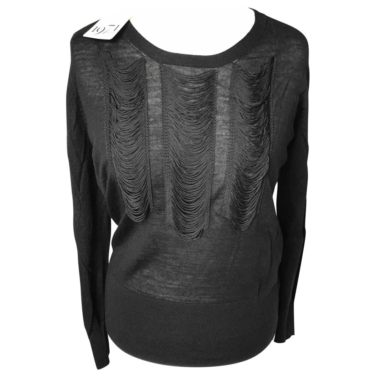 Reiss - Pull   pour femme en laine - noir