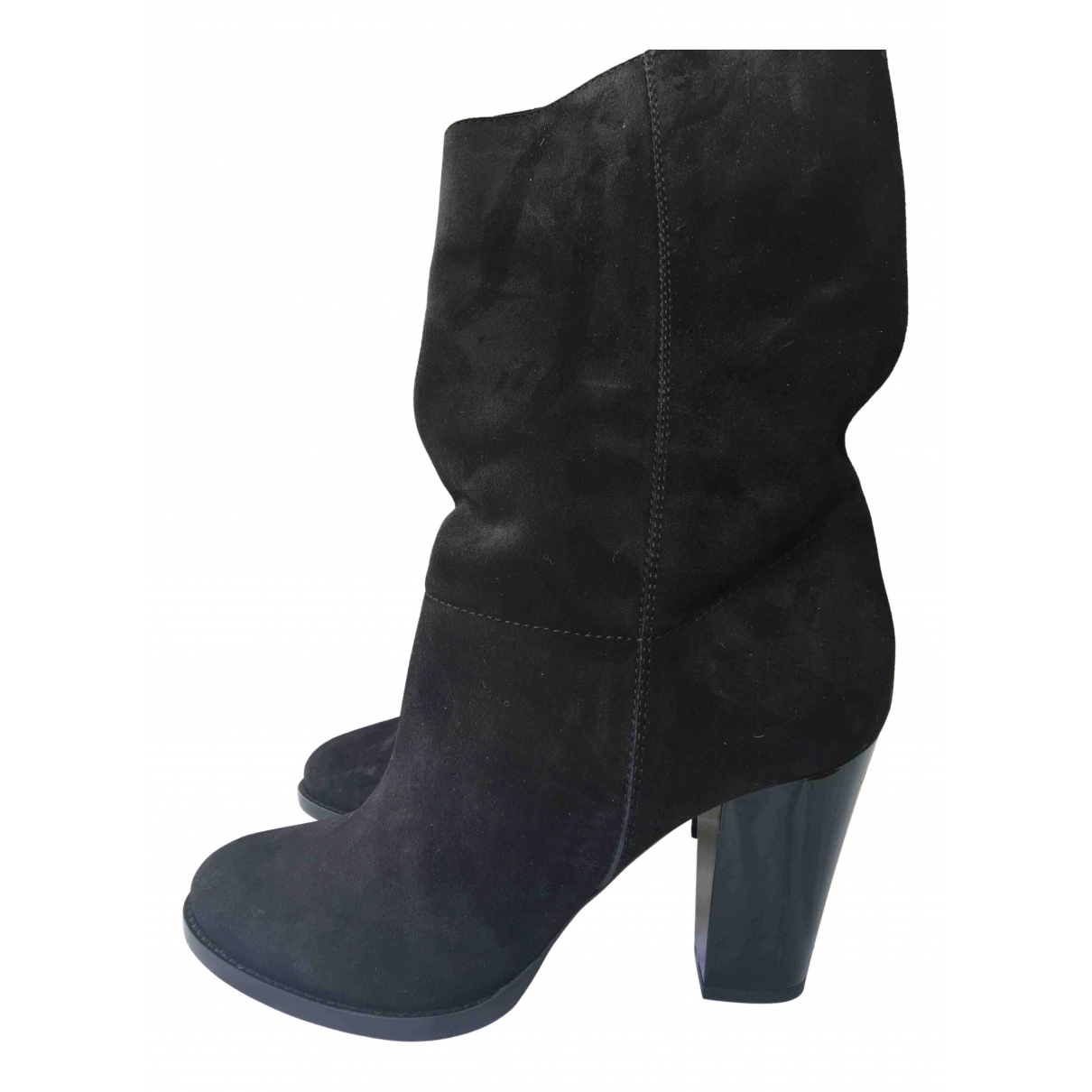 Jimmy Choo N Black Suede Ankle boots for Women 40 EU