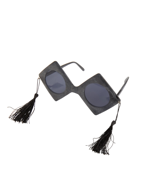 Kostuemzubehor Brille Richter schwarz