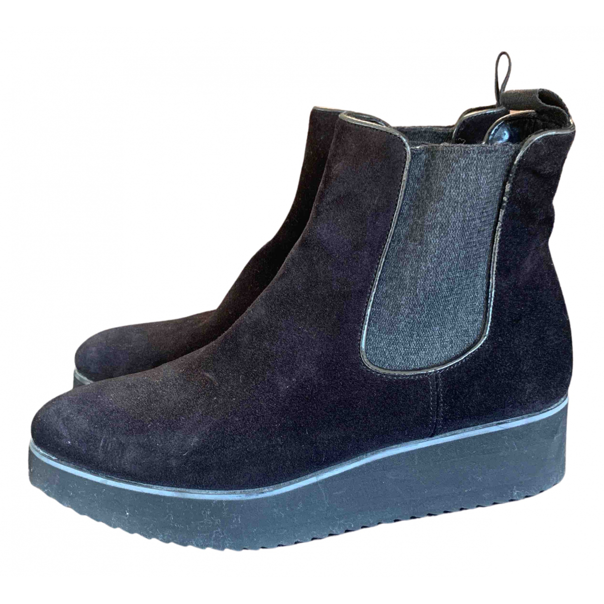 Non Signé / Unsigned N Black Suede Ankle boots for Women 37 EU