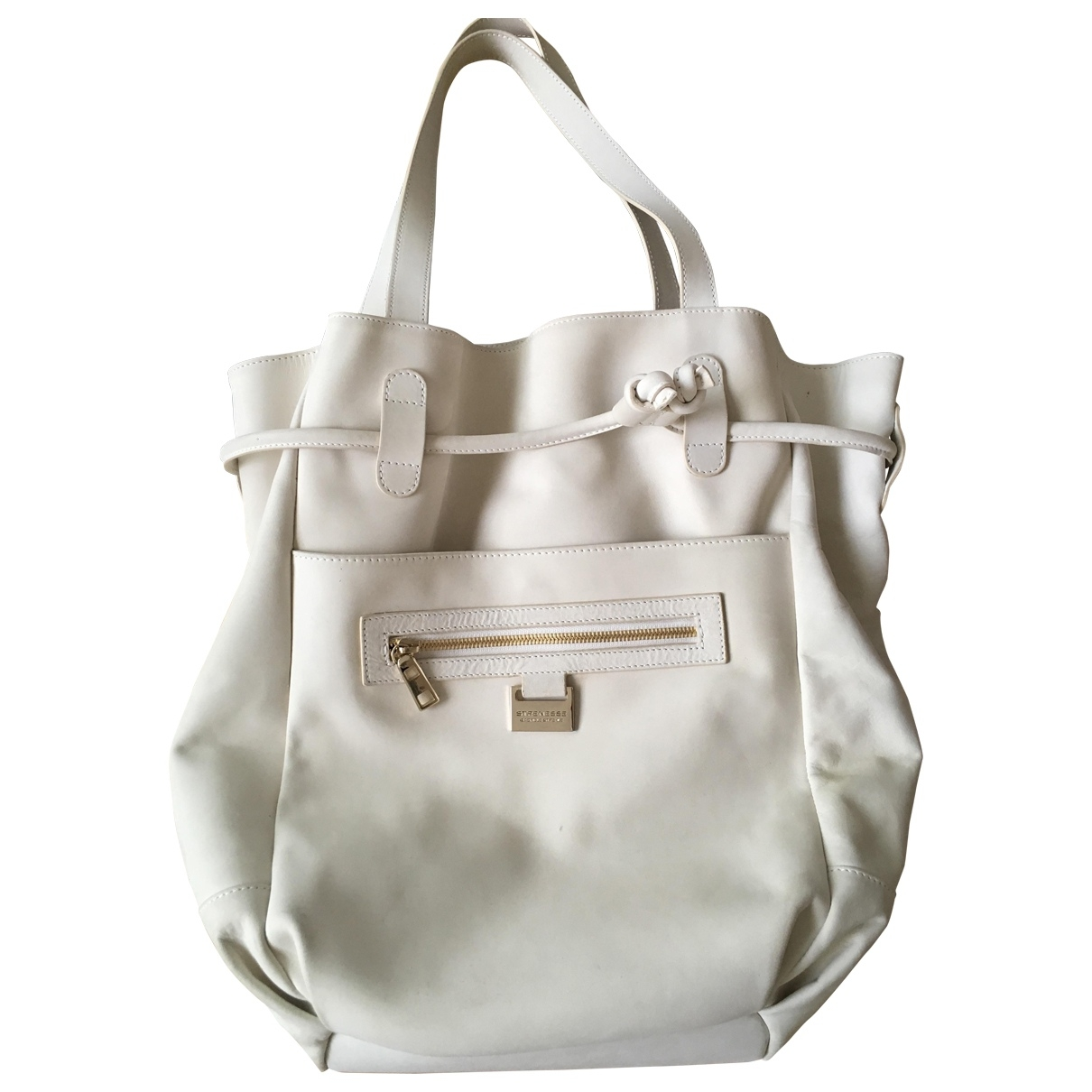 Strenesse \N White Leather handbag for Women \N