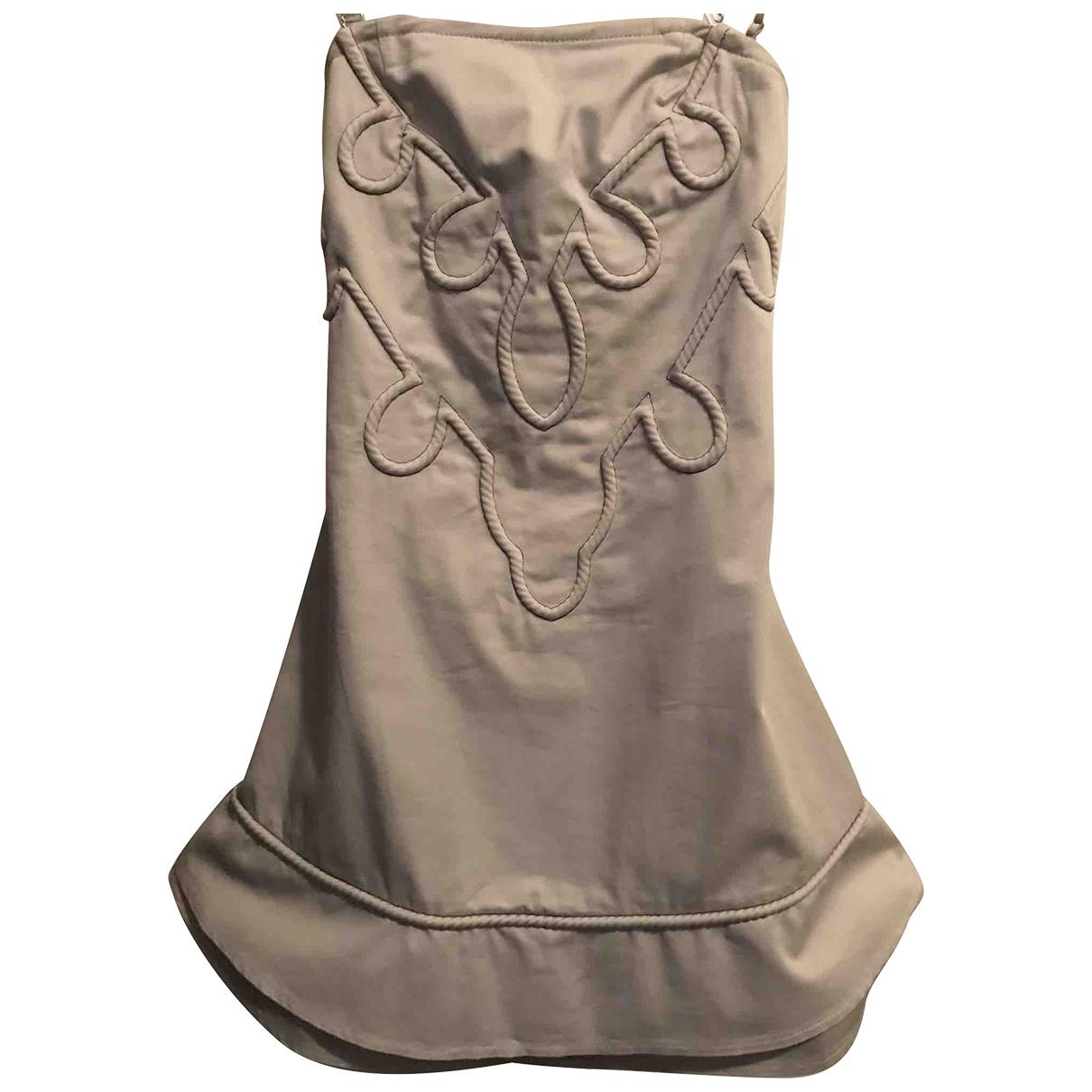 Liu.jo - Robe   pour femme en coton - ecru