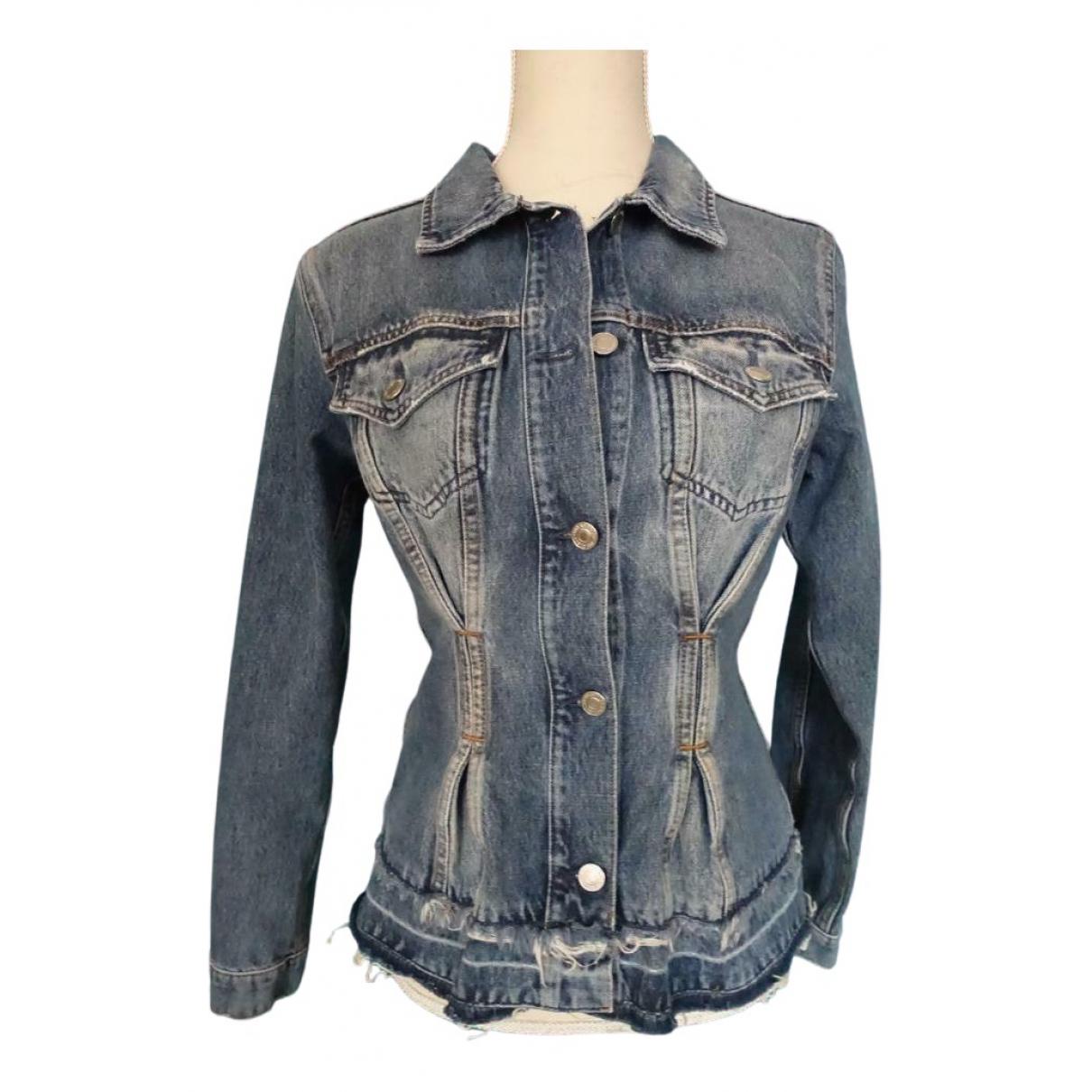Guess \N Blue Cotton jacket for Women S International