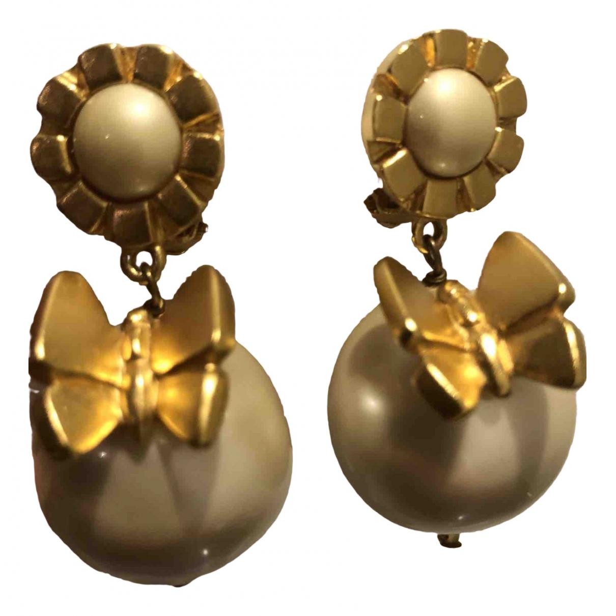 Lanvin - Boucles doreilles   pour femme en perles - dore
