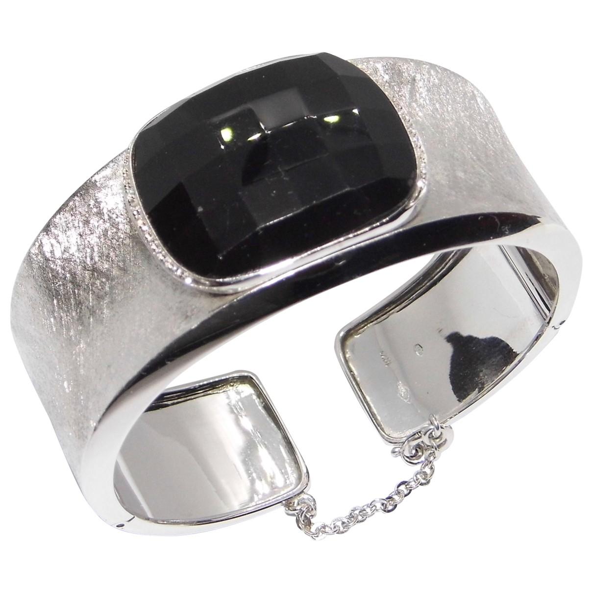 - Bracelet Onyx pour femme en or blanc - noir