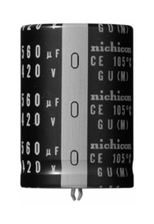 Nichicon 15000μF Electrolytic Capacitor 25V dc, Through Hole - LGU1E153MELB