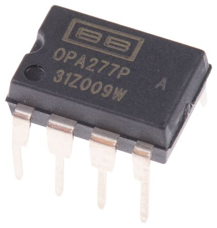 Texas Instruments OPA277PA , Precision, Op Amp, 1MHz, 8-Pin PDIP