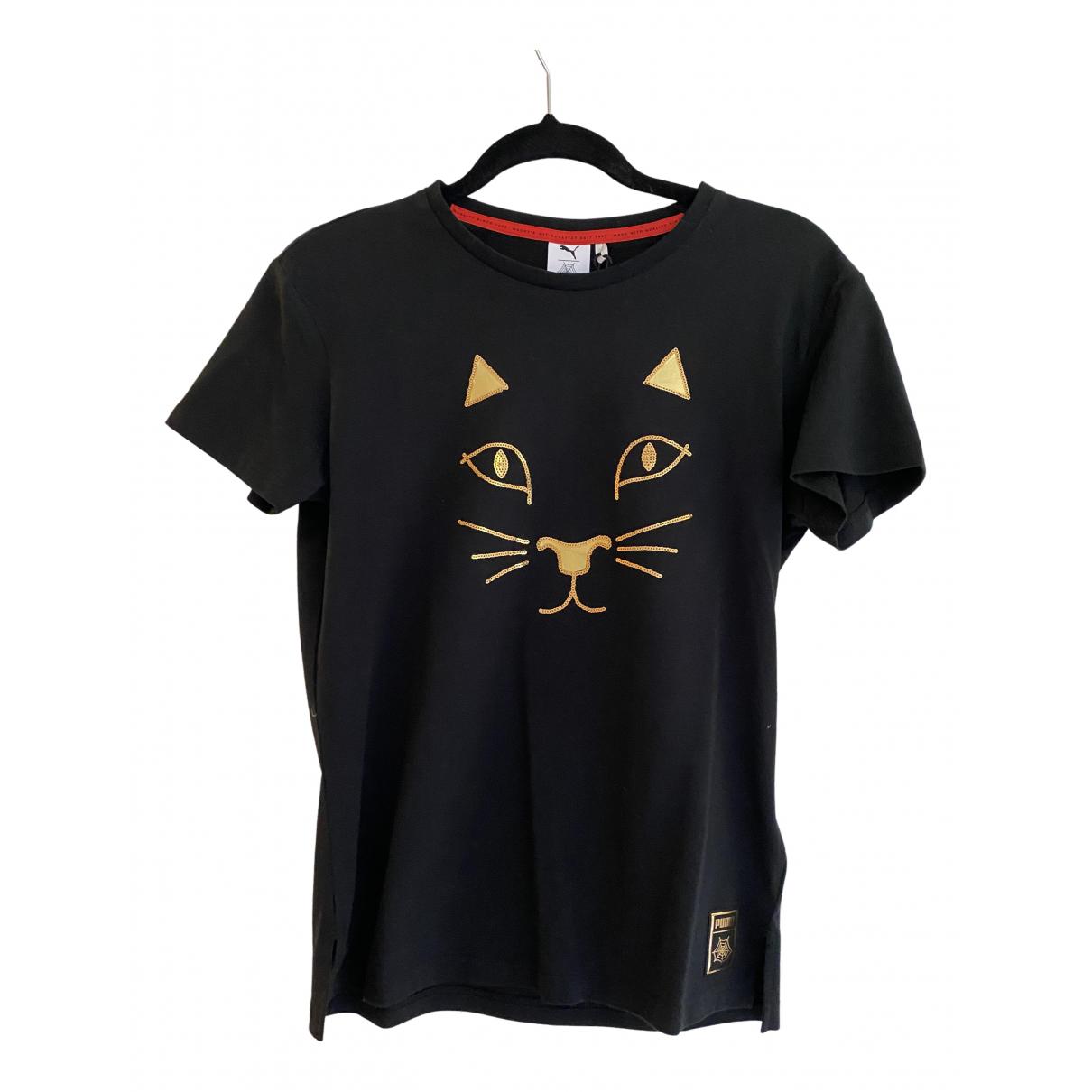 Puma - Top   pour femme en coton - noir