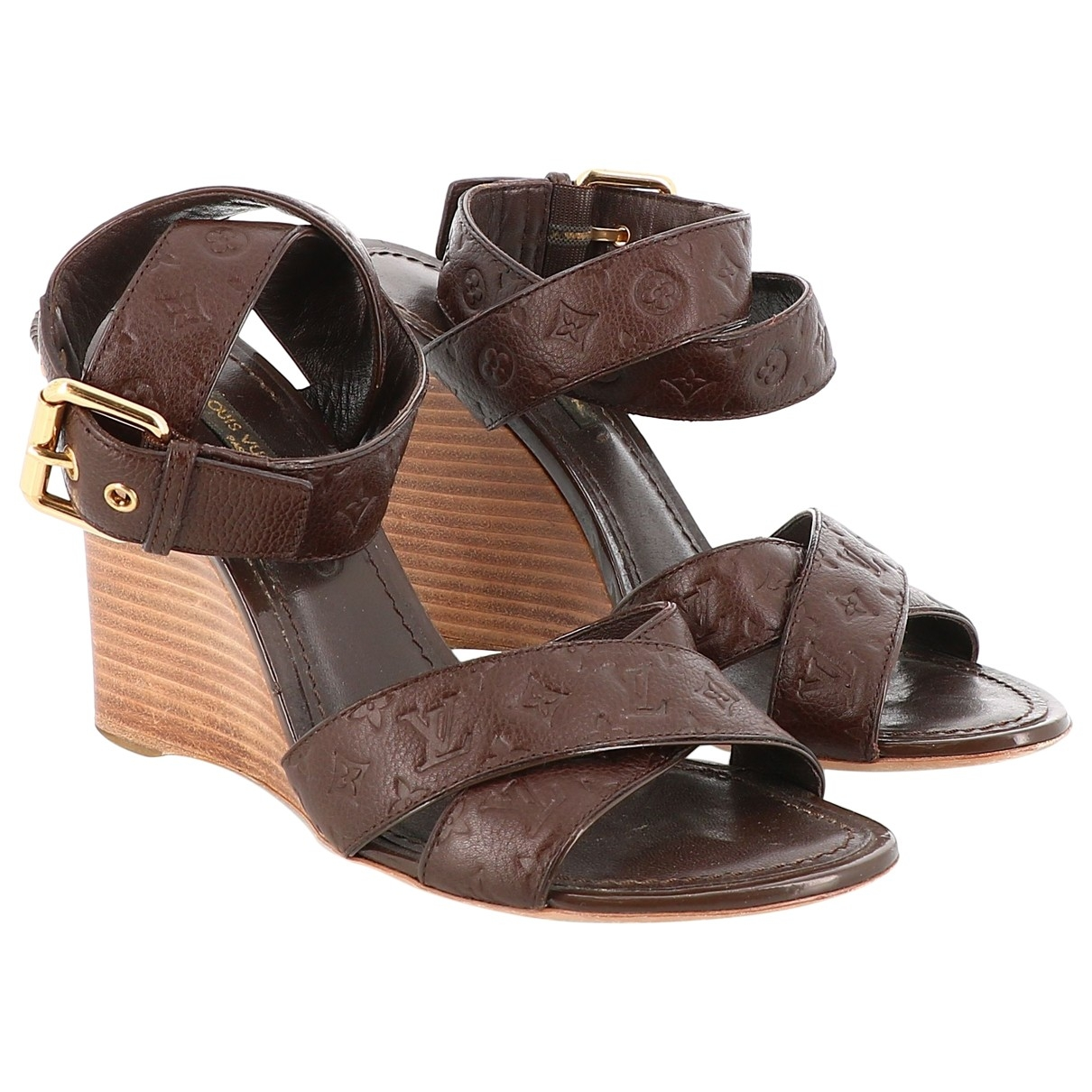Louis Vuitton \N Sandalen in  Braun Leder