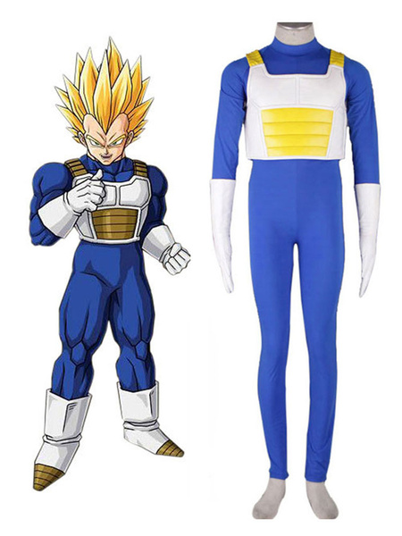 Milanoo Dragonball Cosplay Kai Vegeta Saiyan Battle Outfit Anime Cosplay Costume