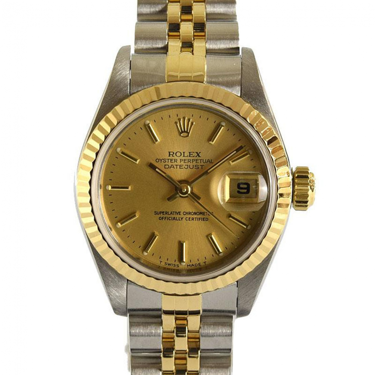 Rolex Lady DateJust 26mm gold and steel watch for Women \N