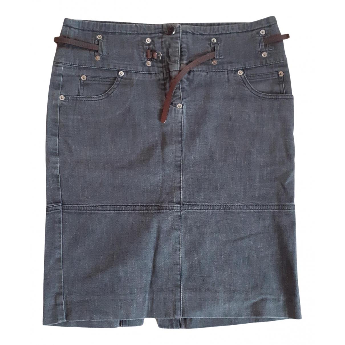 Gianfranco Ferré N Grey Cotton - elasthane skirt for Women 42 IT
