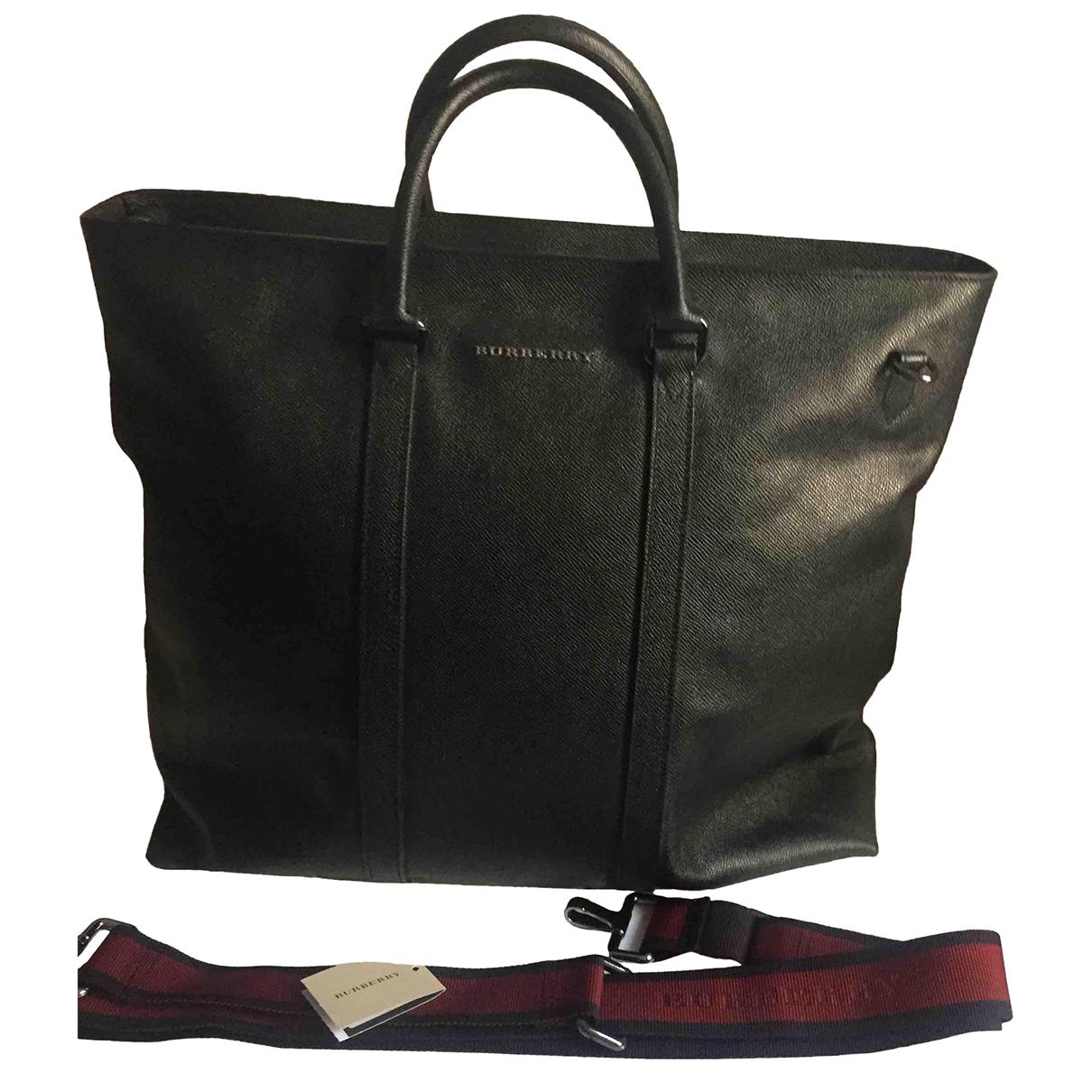 Burberry - Sac de voyage   pour femme en cuir - noir