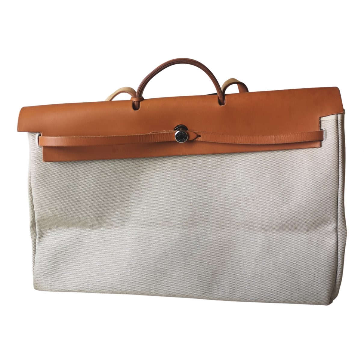 Hermès Herbag Beige Cloth handbag for Women \N