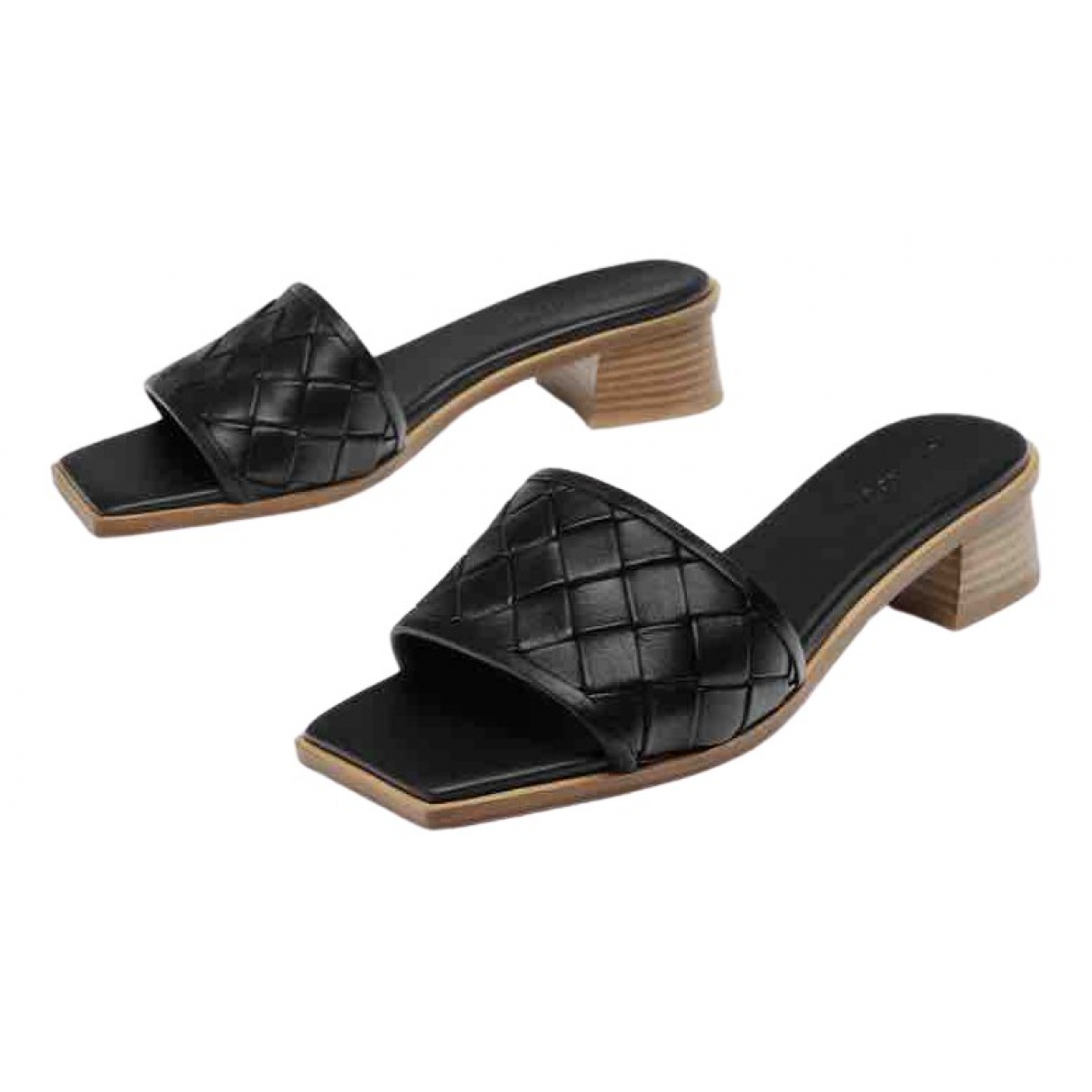 Uterque \N Black Leather Sandals for Women 40 EU