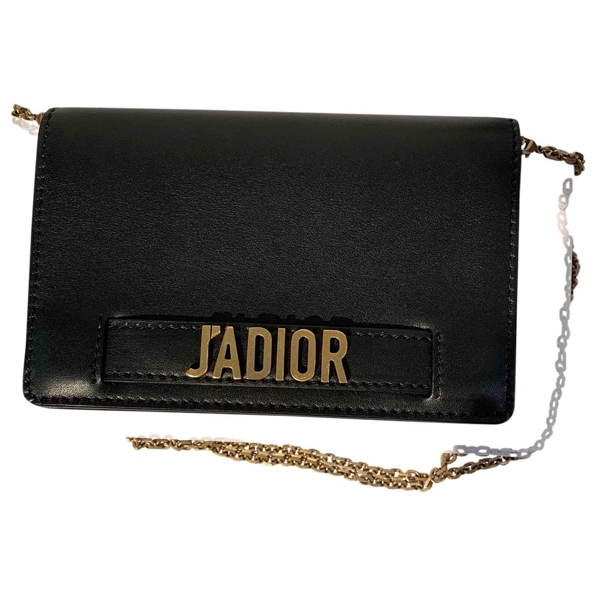 Dior - Pochette Jadior pour femme en cuir - noir