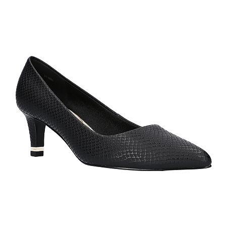 Easy Street Womens Pointed Pumps Spike Heel, 6 Medium, Black