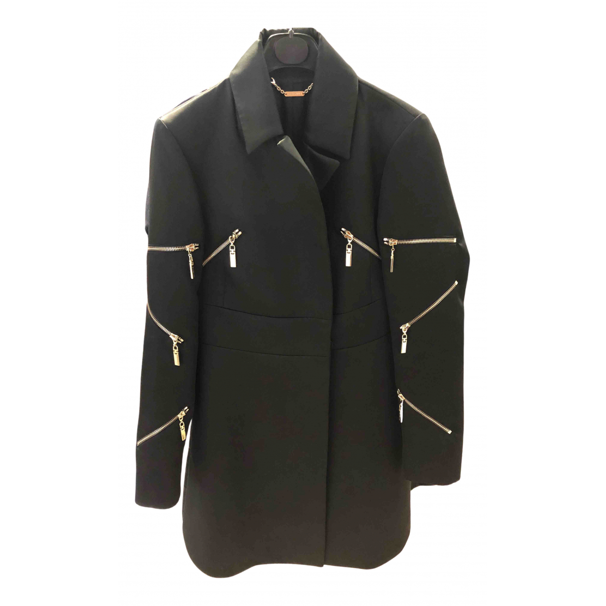 Mangano N Black coat for Women 42 IT
