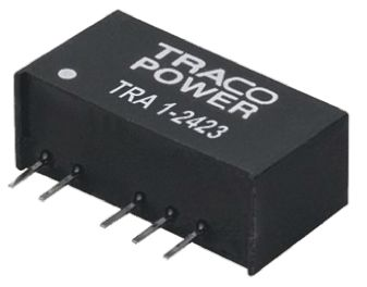 TRACOPOWER TRA 1 1W Isolated DC-DC Converter Through Hole, Voltage in 21.6 → 26.4 V dc, Voltage out ±15V dc