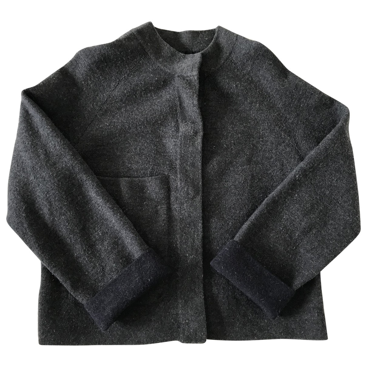 Cos \N Pullover in  Anthrazit Wolle
