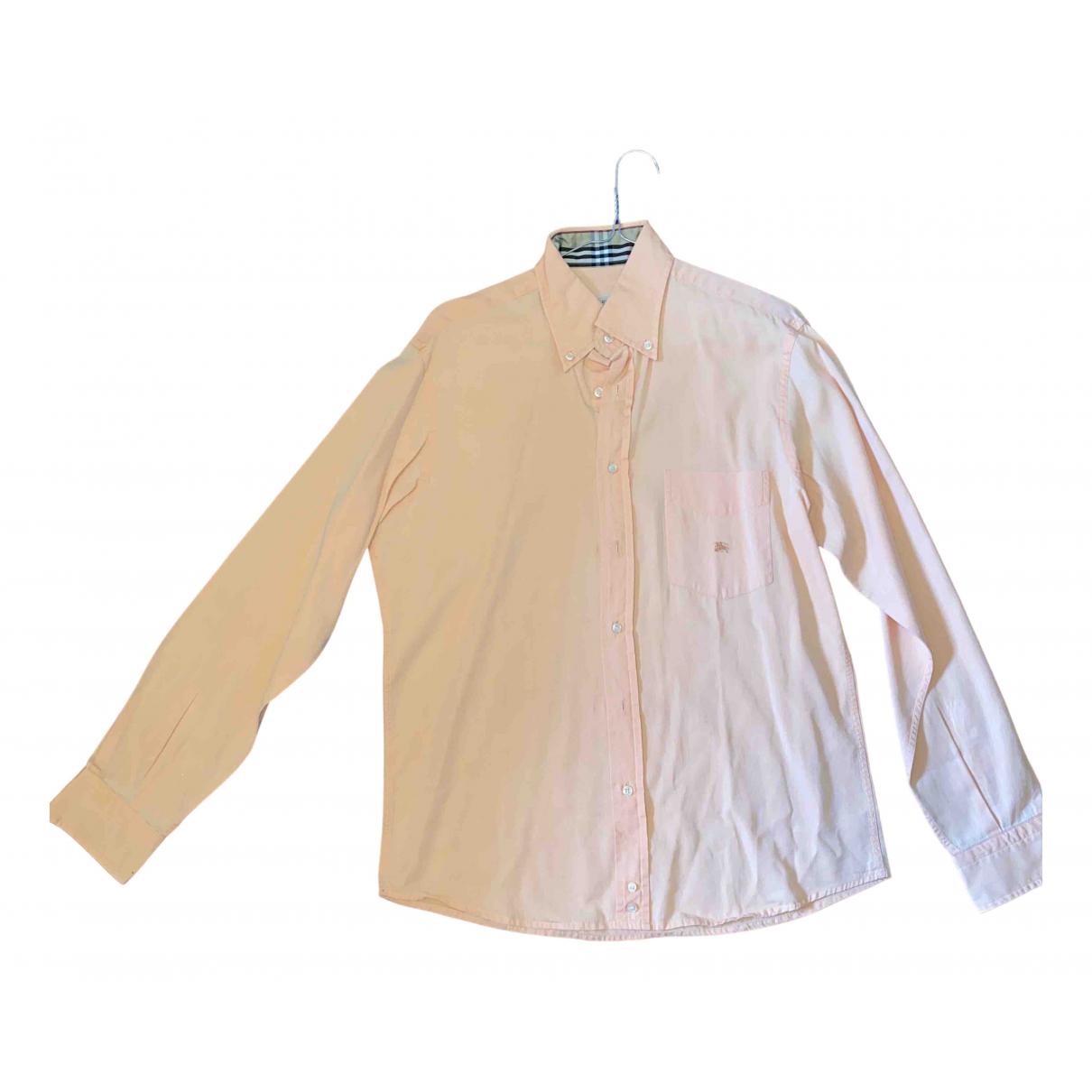 Burberry - Chemises   pour homme en coton - orange