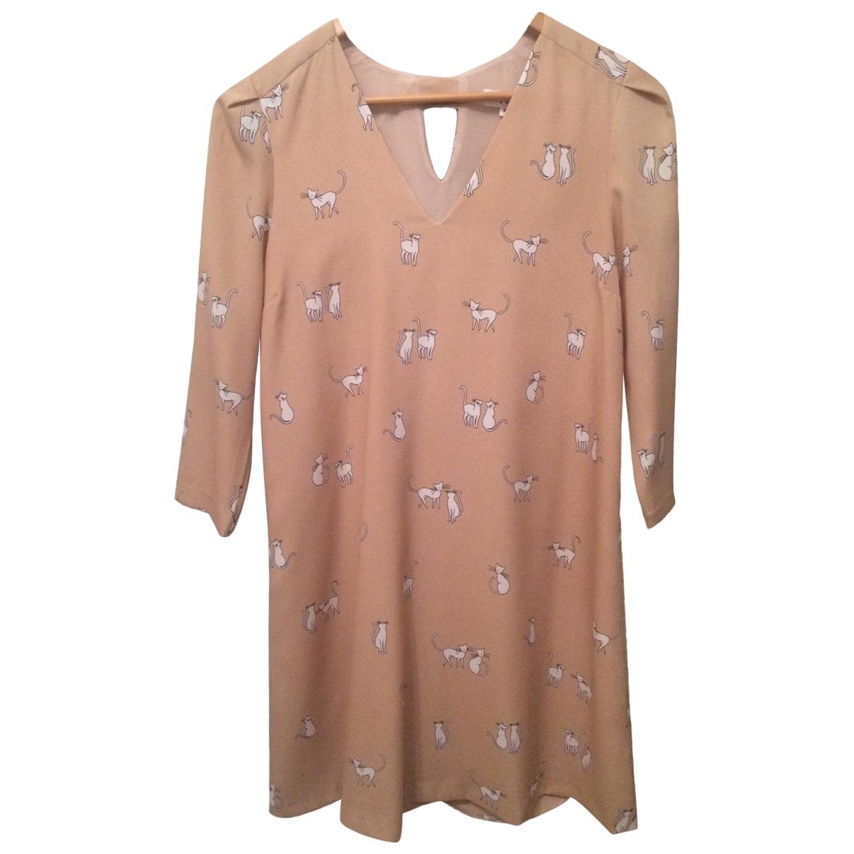 Claudie Pierlot \N Kleid in  Beige Polyester