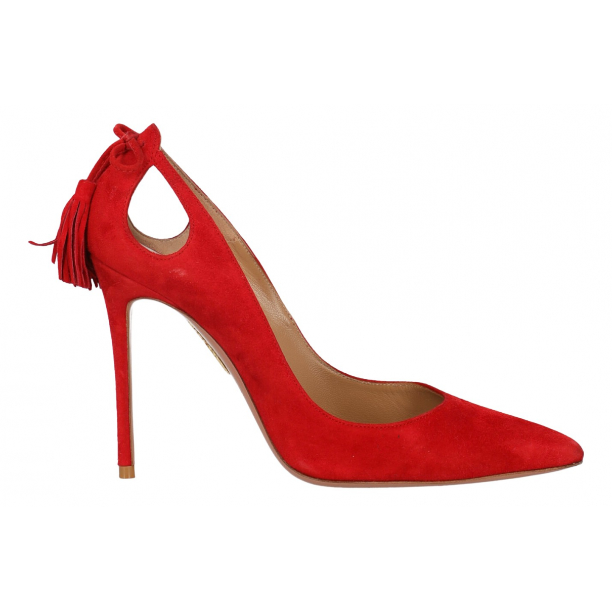 Aquazzura N Red Suede Heels for Women 36 IT