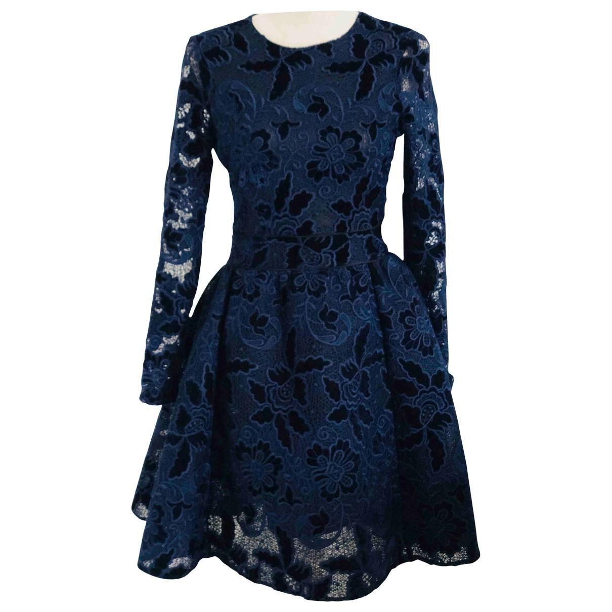 Maje Fall Winter 2019 Navy Velvet dress for Women 36 FR