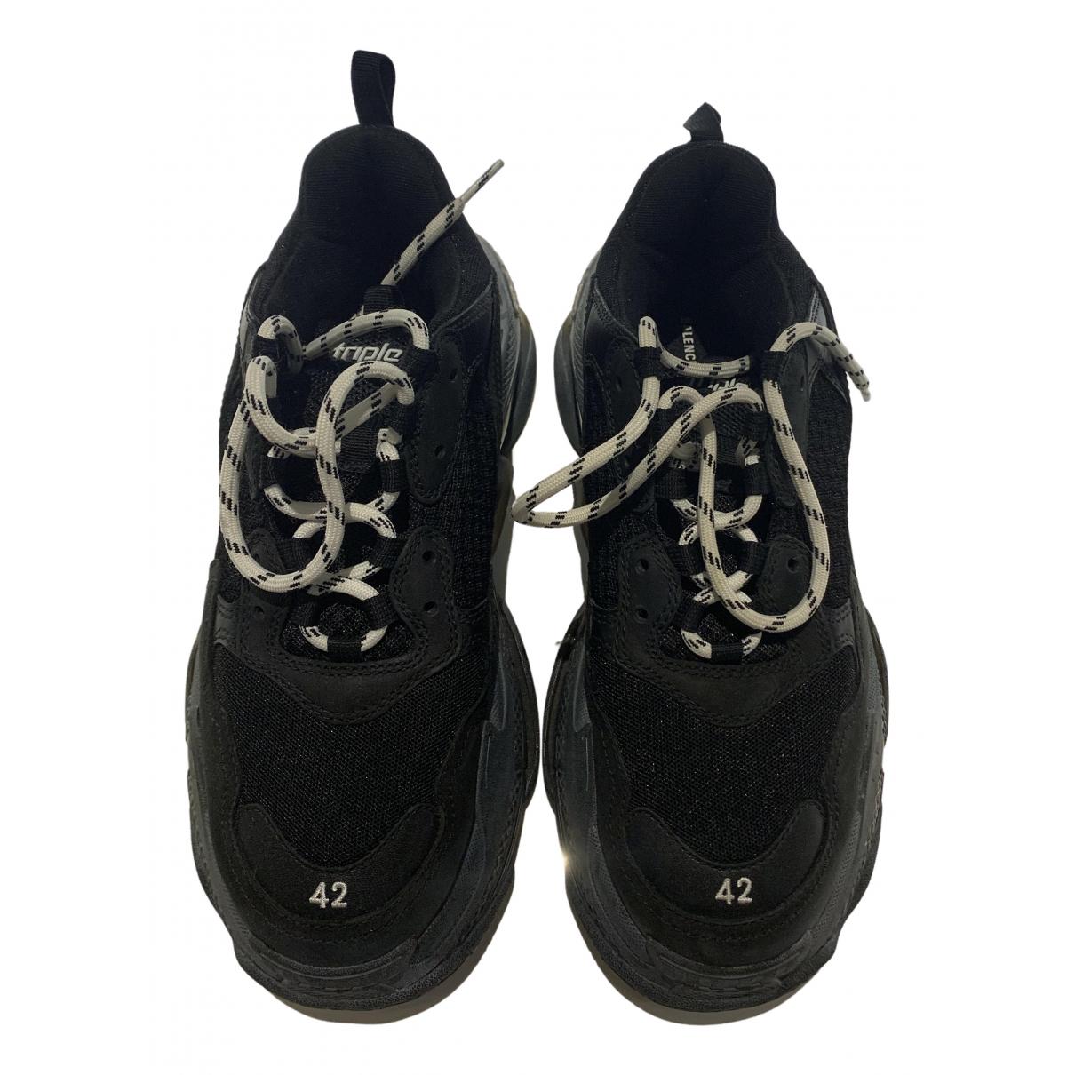 Balenciaga Triple S Black Cloth Trainers for Men 42 EU