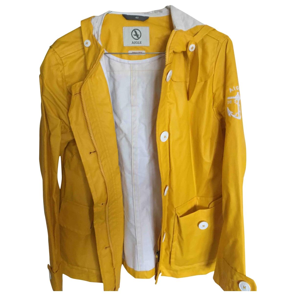 Aigle - Veste   pour femme en coton - jaune