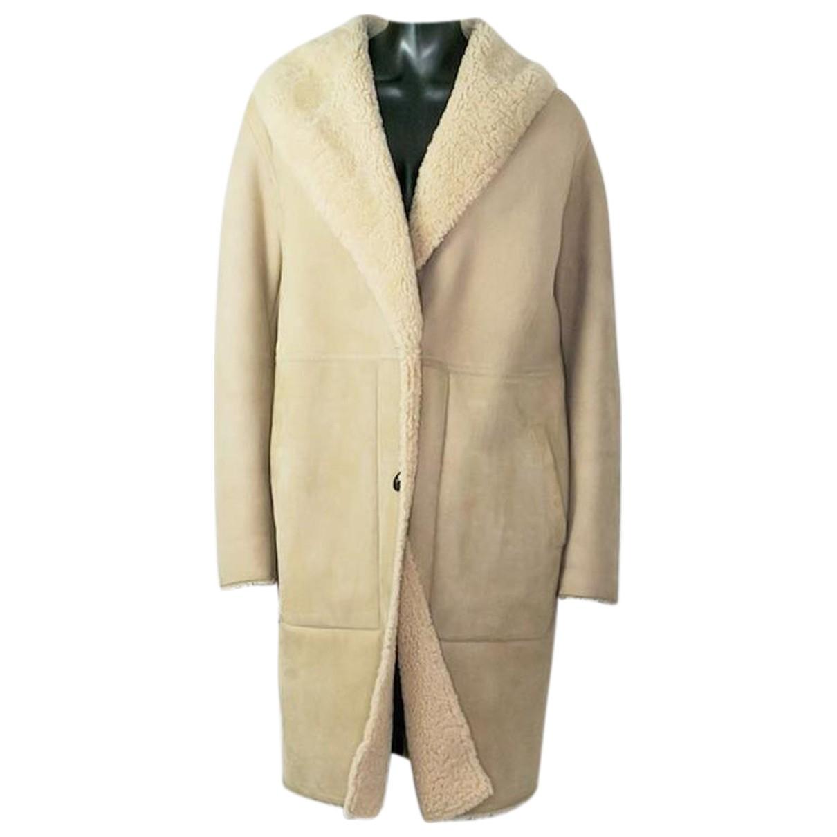 Loewe - Manteau   pour femme en suede - beige