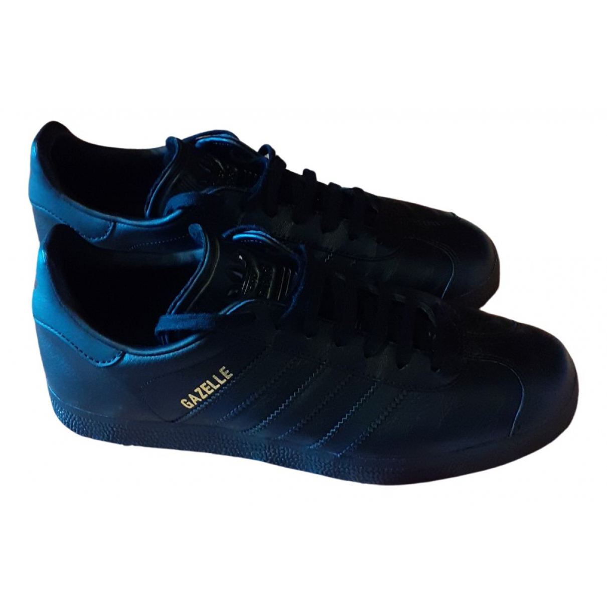 Adidas Gazelle Black Leather Trainers for Men 40 EU
