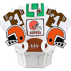 NFL Cleveland Browns Cookie Bouquet