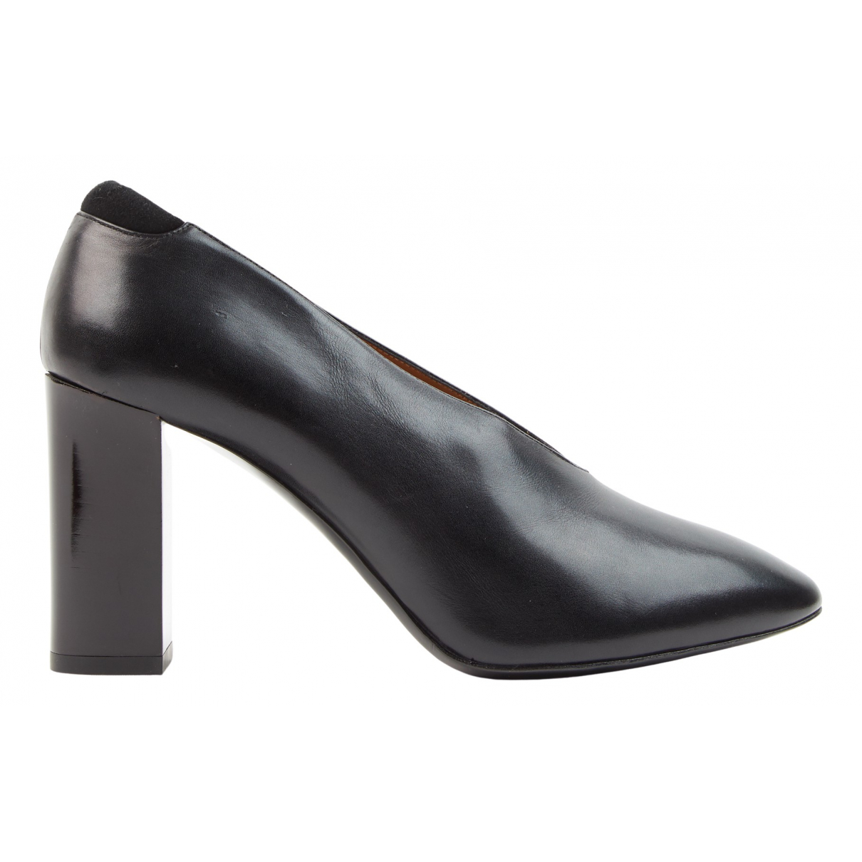 Acne Studios N Black Leather Heels for Women 37 EU