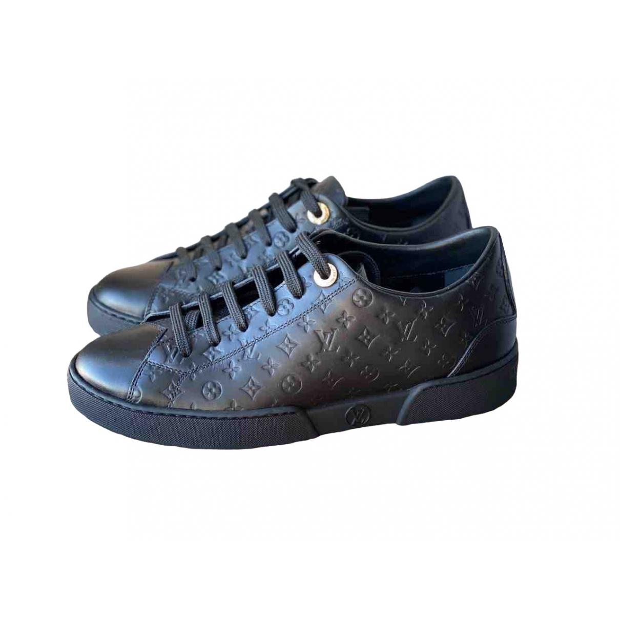 Louis Vuitton - Baskets FrontRow pour femme en cuir - noir