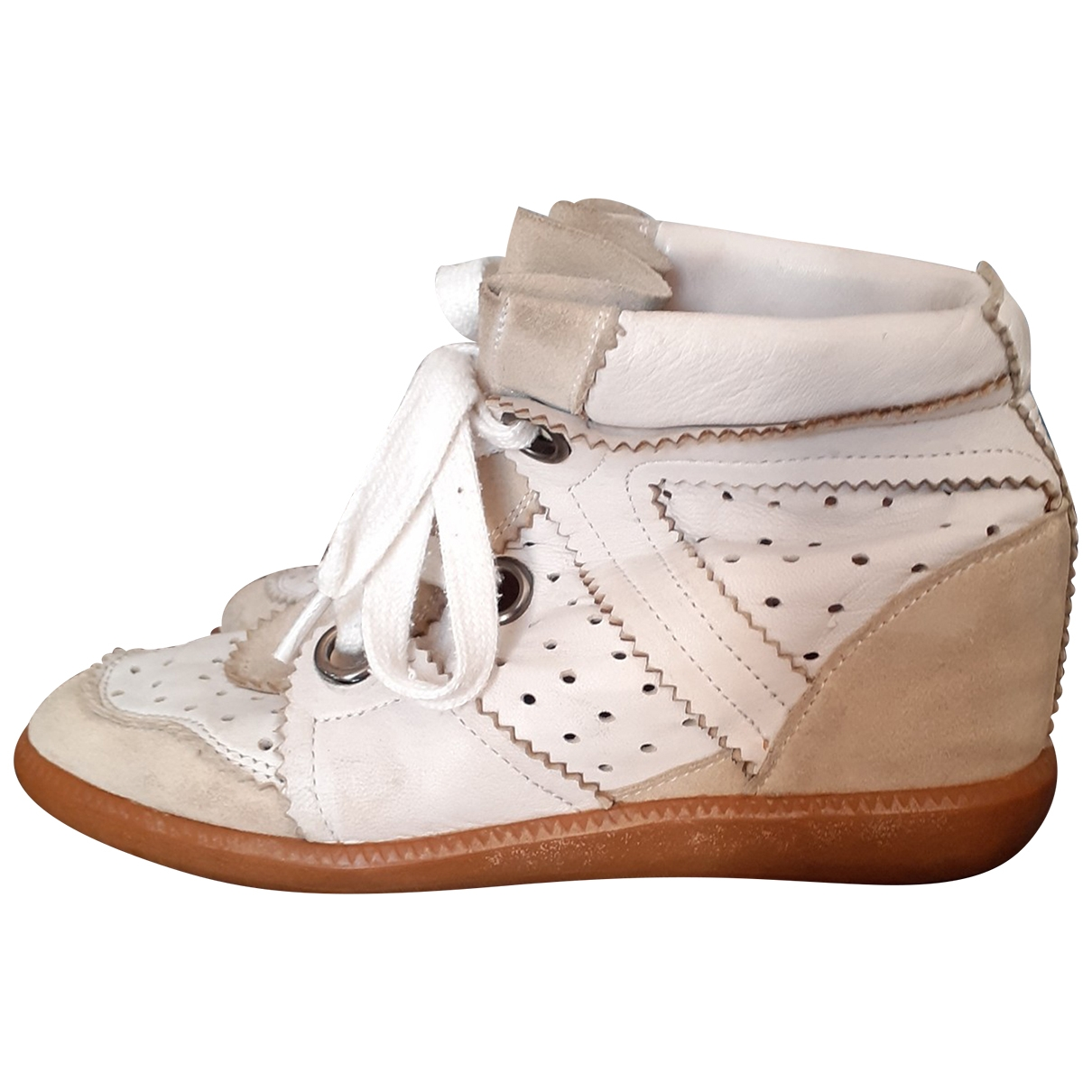 Isabel Marant Betty White Leather Trainers for Women 38 EU