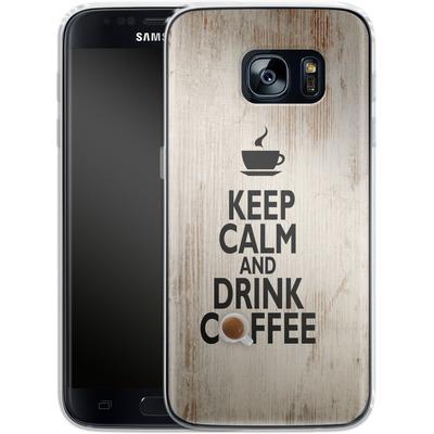 Samsung Galaxy S7 Silikon Handyhuelle - Drink Coffee von caseable Designs