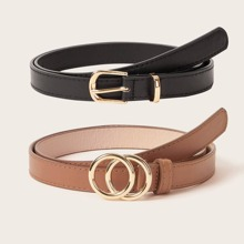 2pcs Double O-ring Buckle Belt