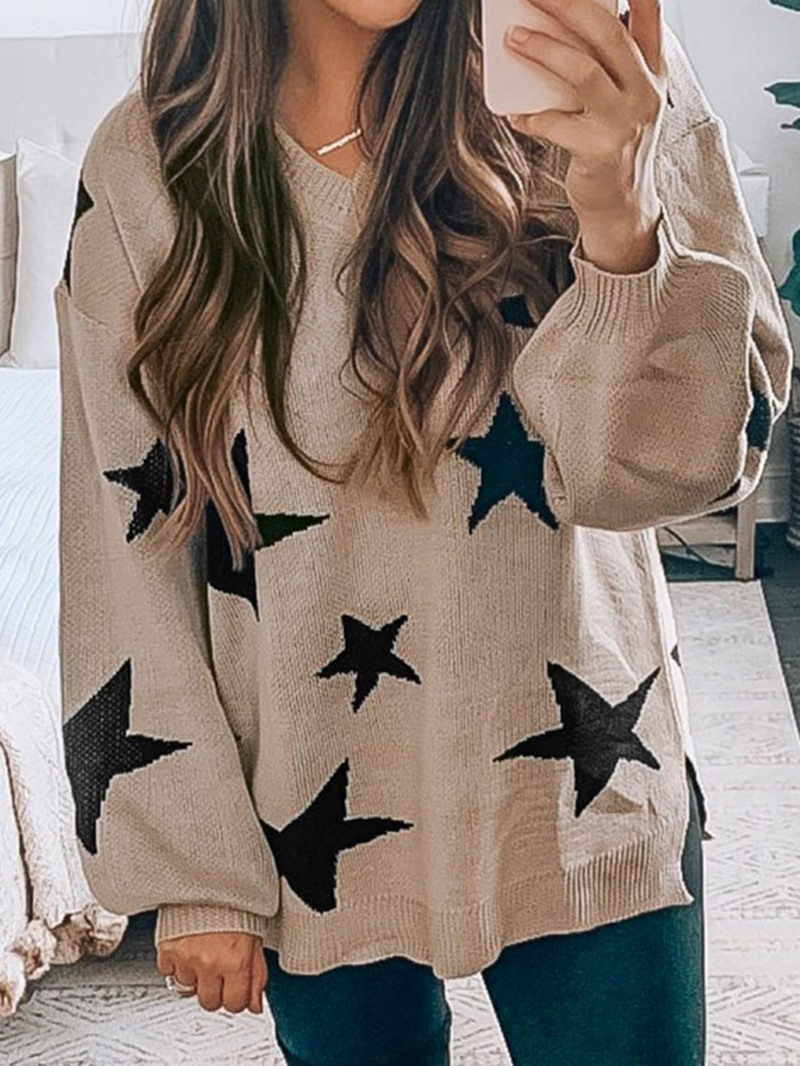 Ericdress Thick Long Sleeve V-Neck Sweater