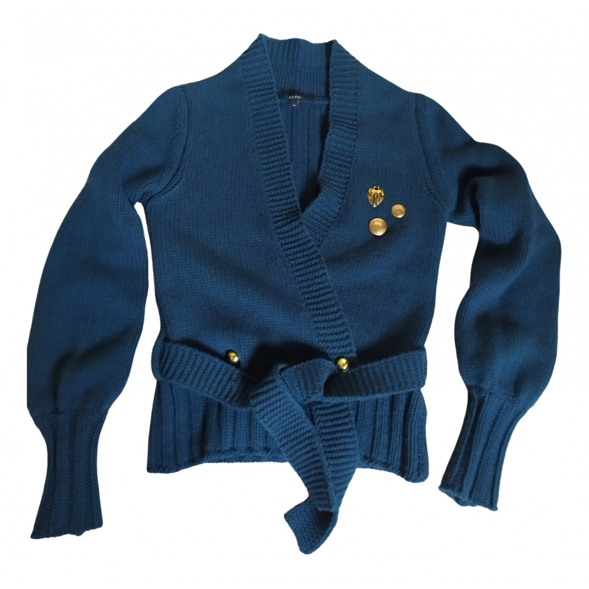 Gucci \N Turquoise Wool Knitwear for Women 42 FR