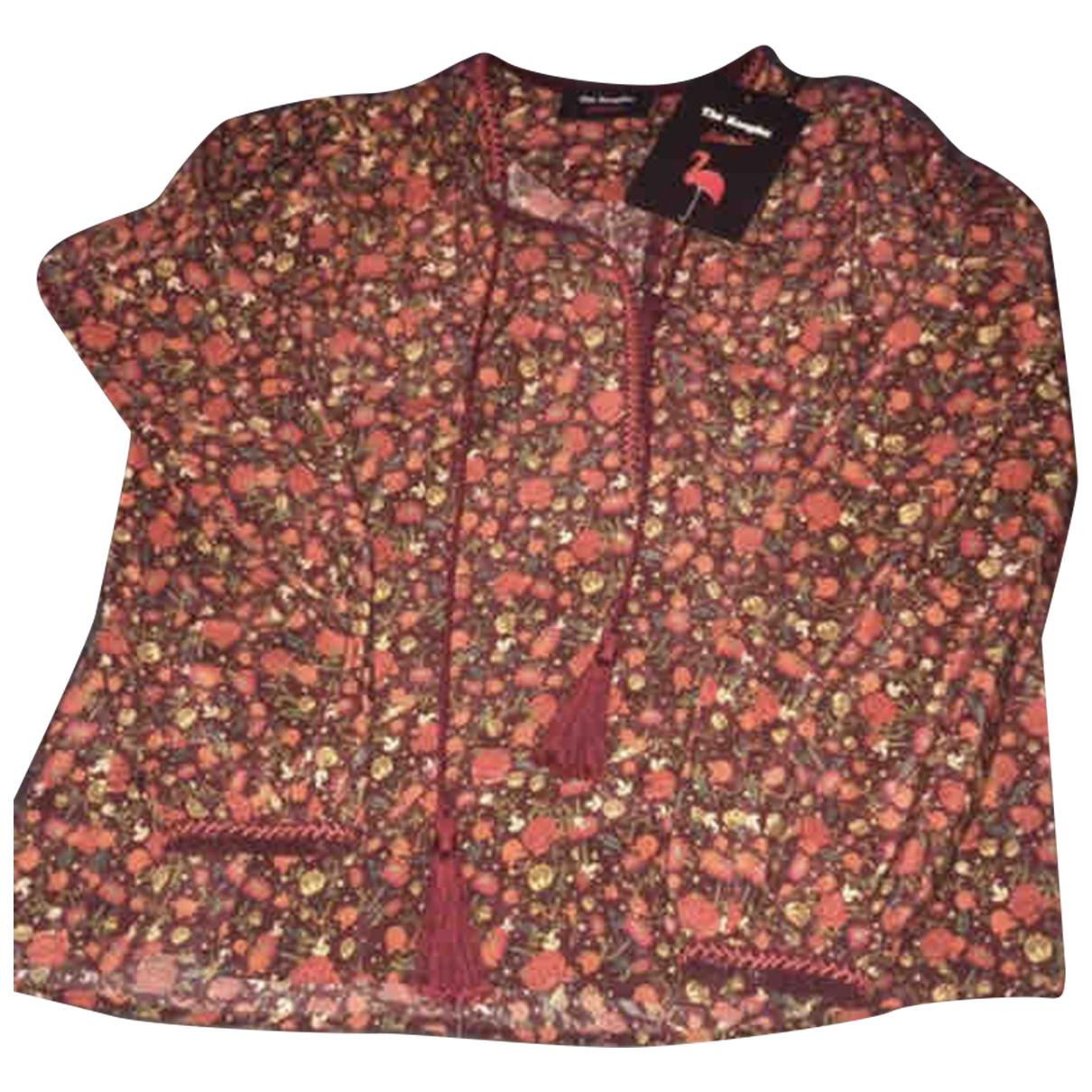 The Kooples - Top   pour femme en soie - rouge