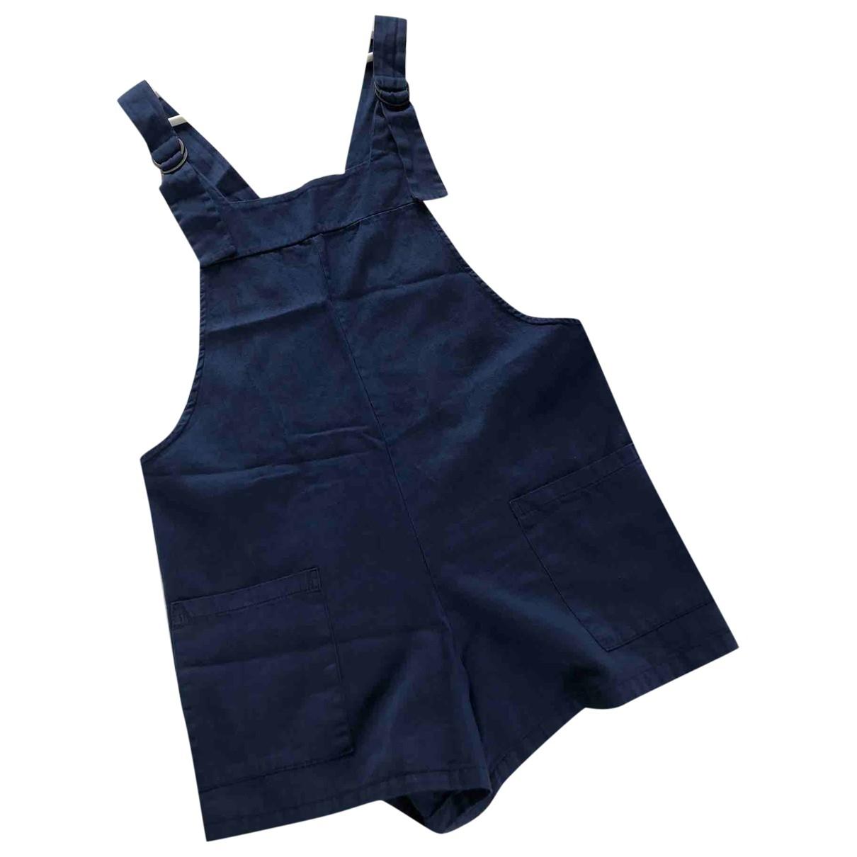 Non Signé / Unsigned Oversize Blue Cotton jumpsuit for Women S International
