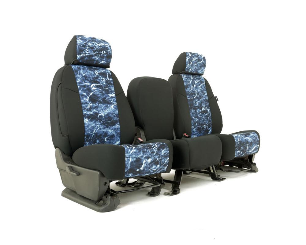 Coverking CSC2MO20CH9659 Skanda Custom Seat Covers 1 Row Neosupreme Mossy Oak Elements Marlin with Black Sides Rear Chevrolet Silverado 2500 | 3500 HD