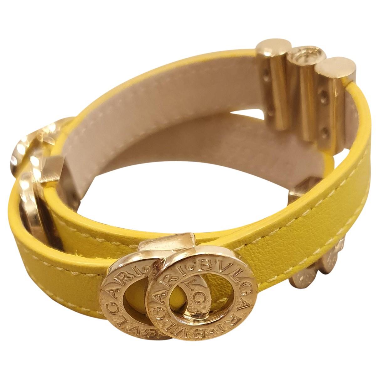 Bvlgari - Bracelet   pour femme en cuir - jaune