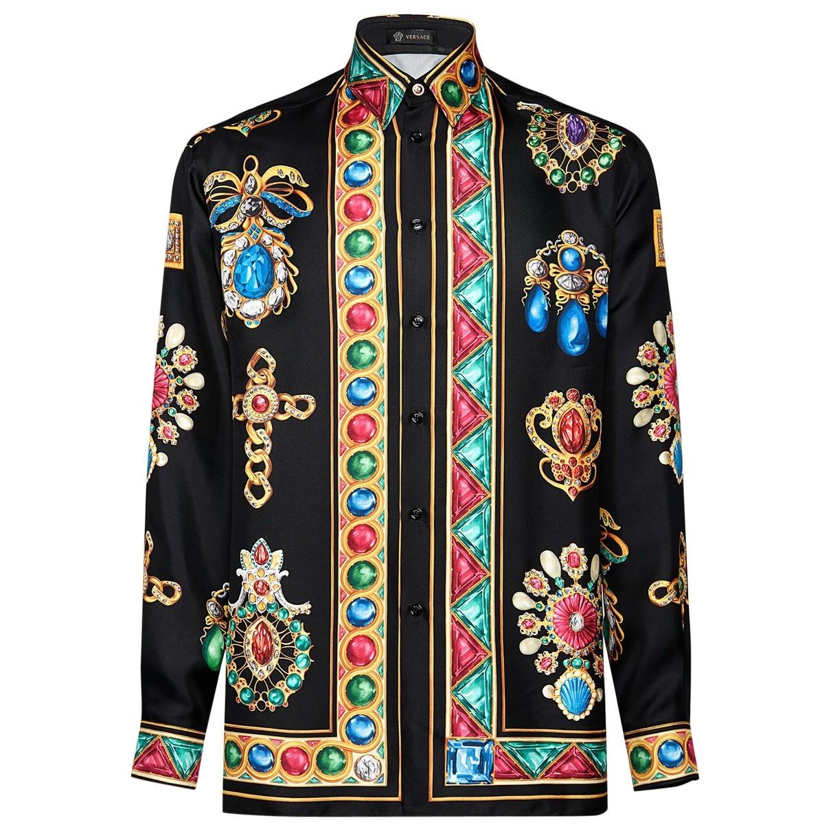 Versace - Chemises   pour homme en soie
