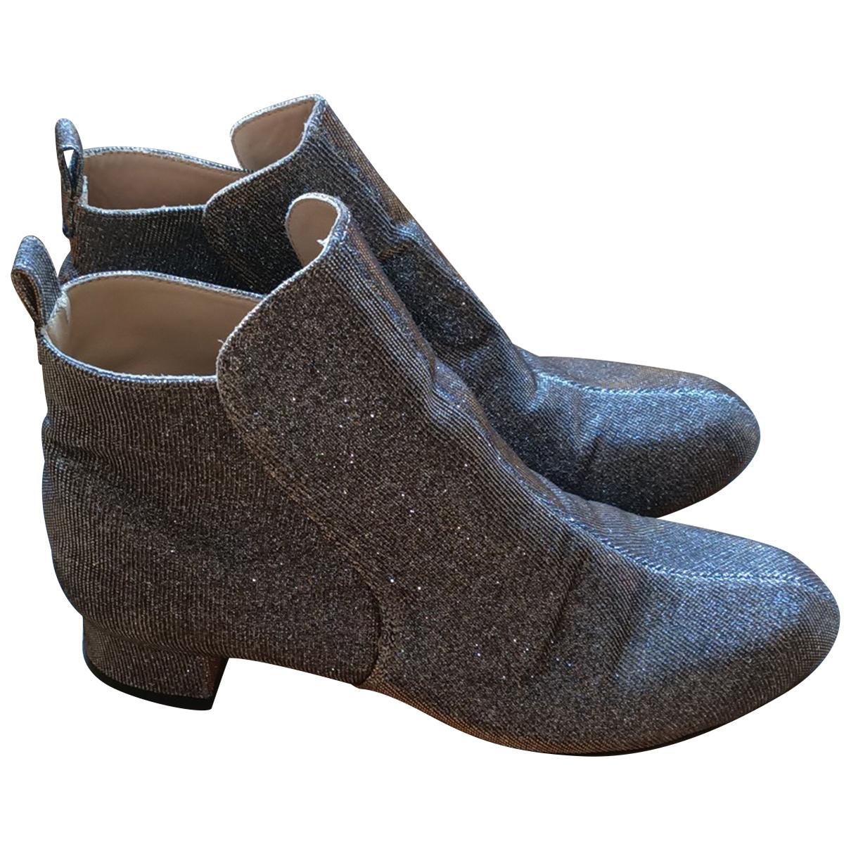 Robert Clergerie - Boots   pour femme en a paillettes - argente