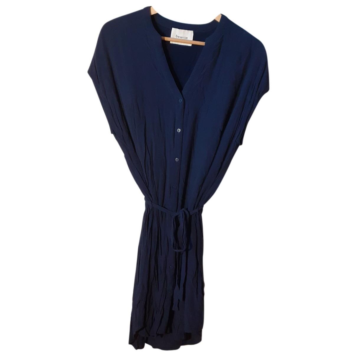 Berenice N Navy Cotton dress for Women 34 FR